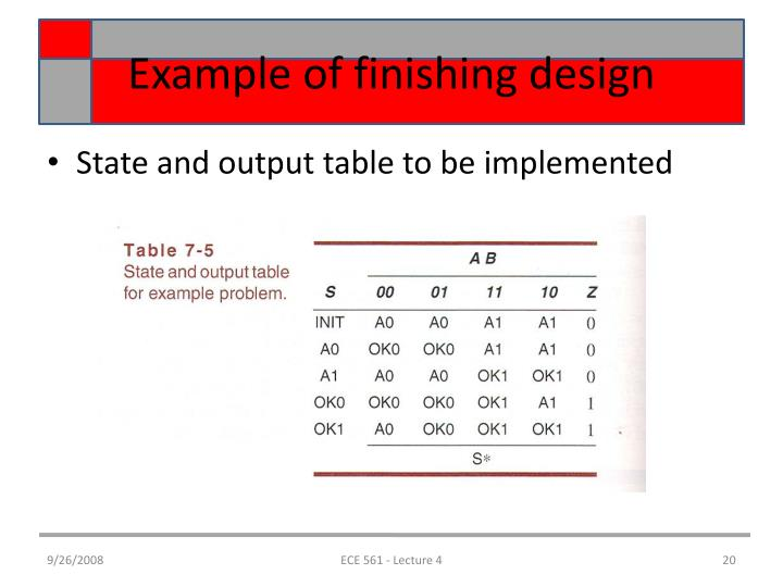 Example of finishing design