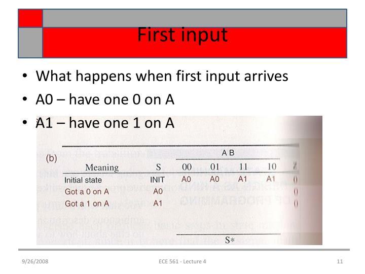 First input
