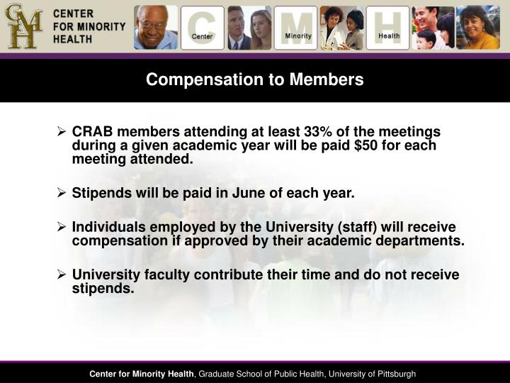 Compensation to Members