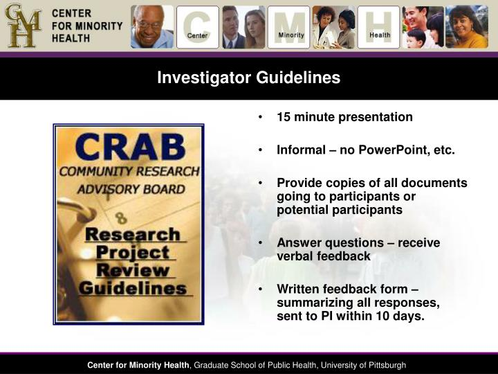 Investigator Guidelines