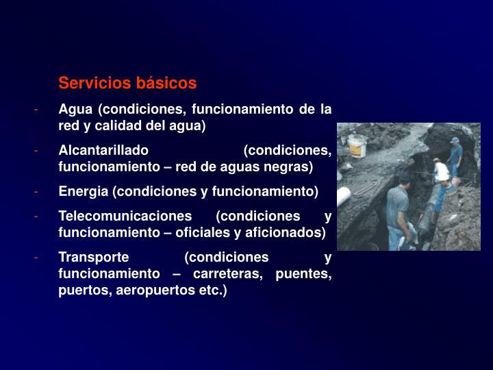 Servicios básicos