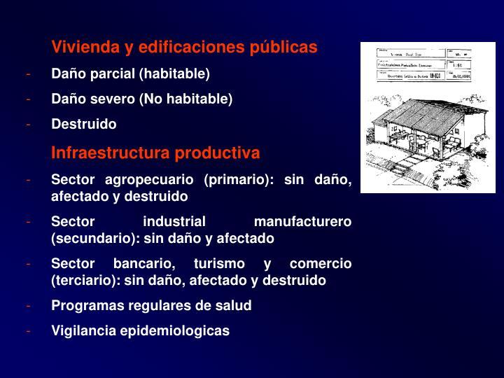 Vivienda y edificaciones públicas