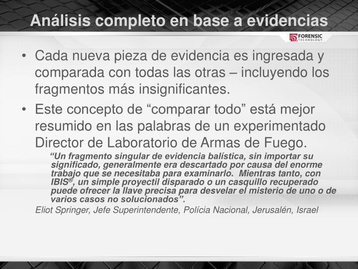 Análisis completo en base a evidencias