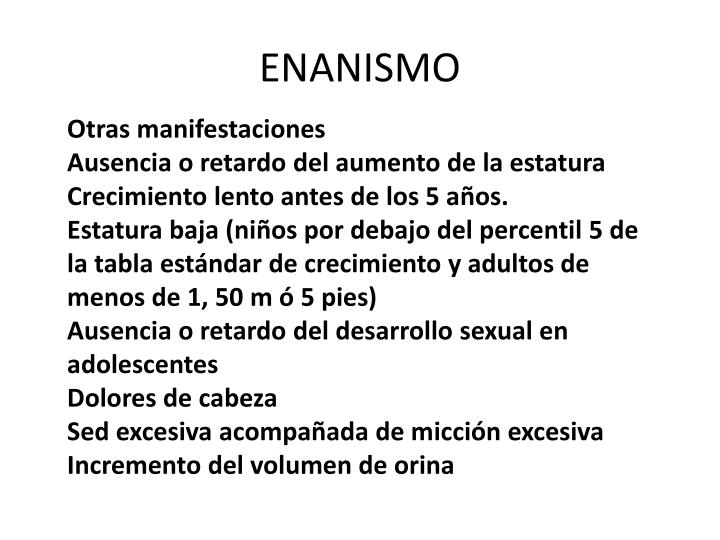ENANISMO