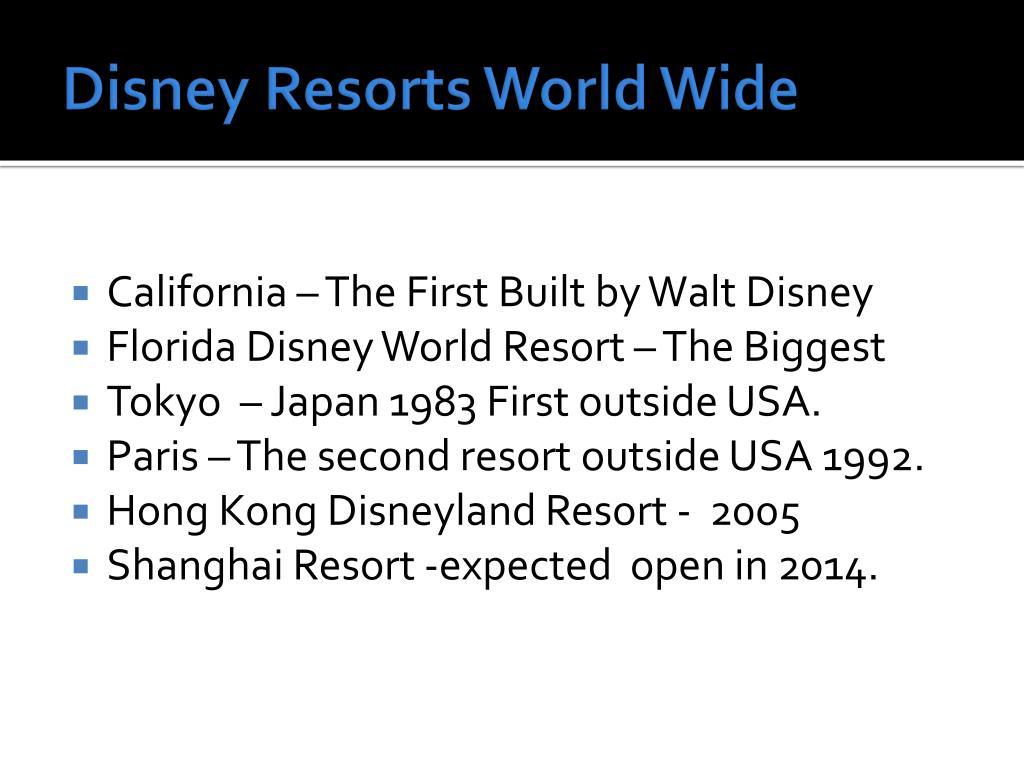 Disney Resorts World Wide