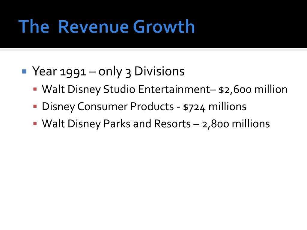 The  Revenue Growth