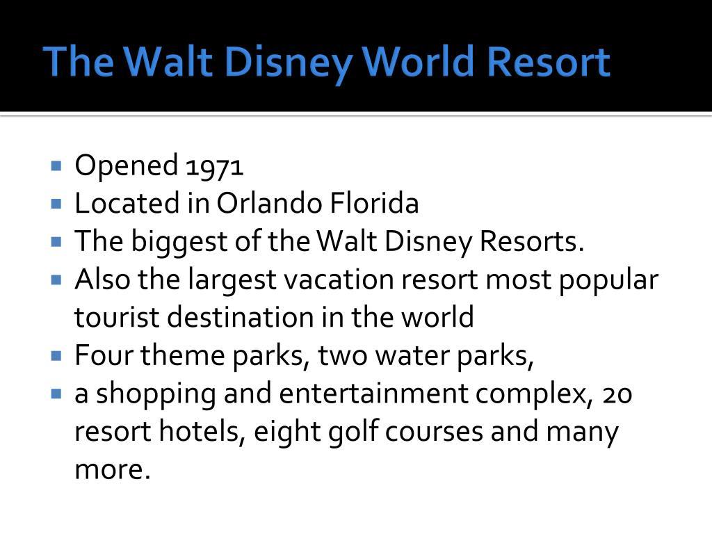 The Walt Disney World Resort