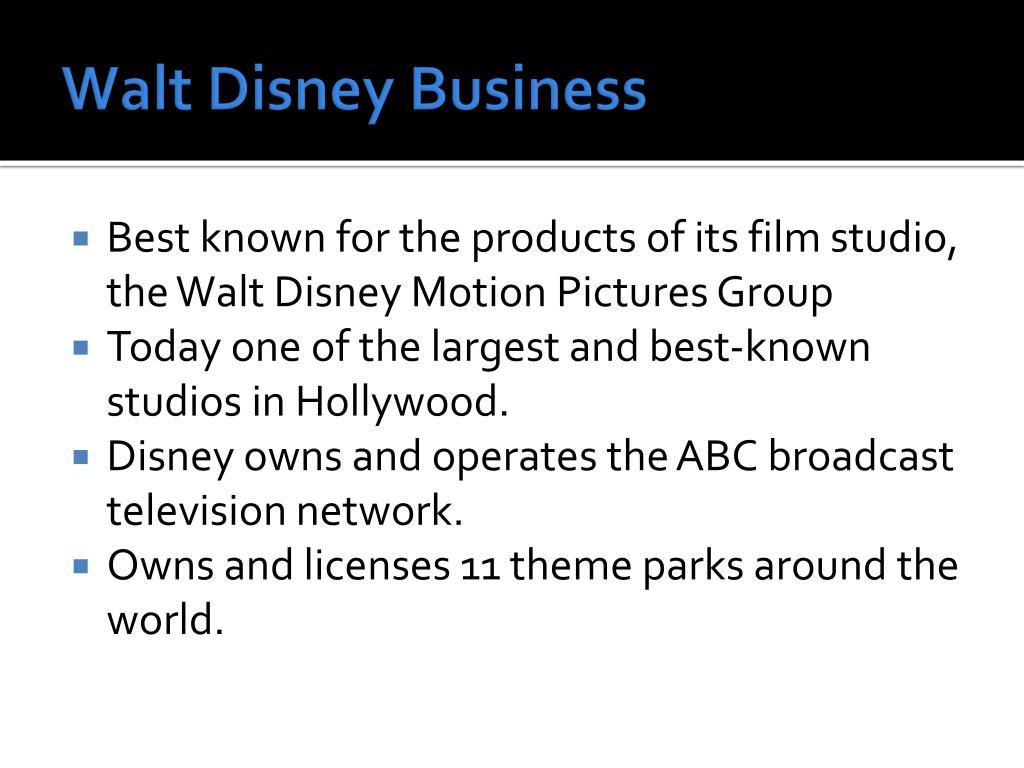 Walt Disney Business