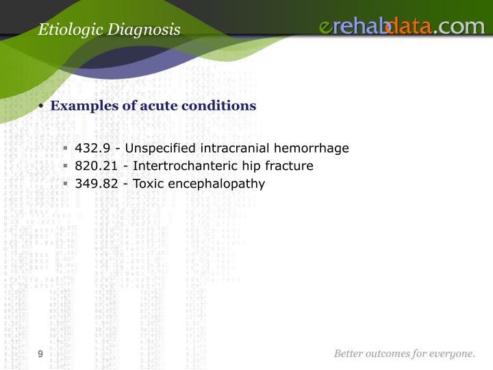 Etiologic Diagnosis