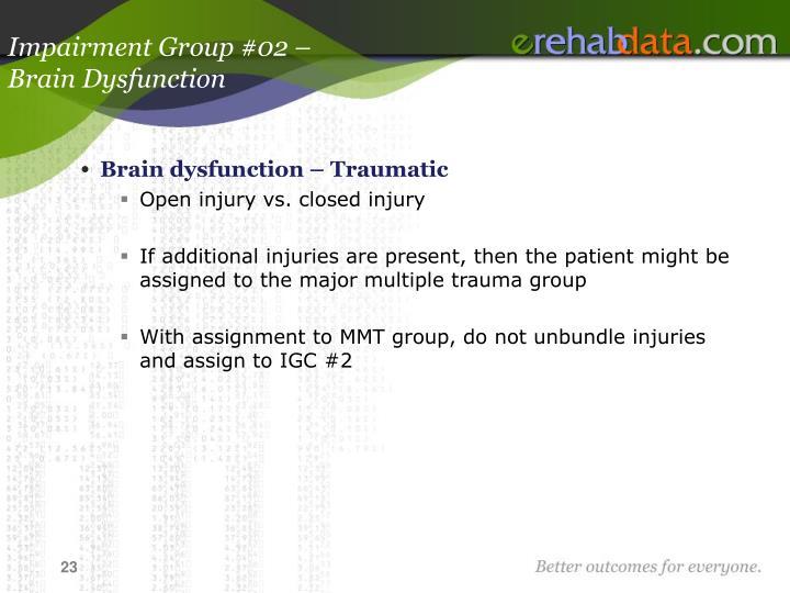 Impairment Group #02 –
