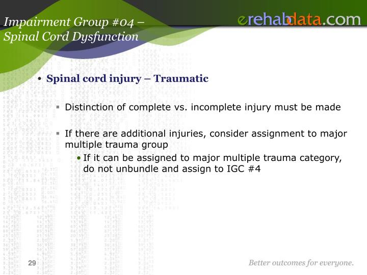 Impairment Group #04 –