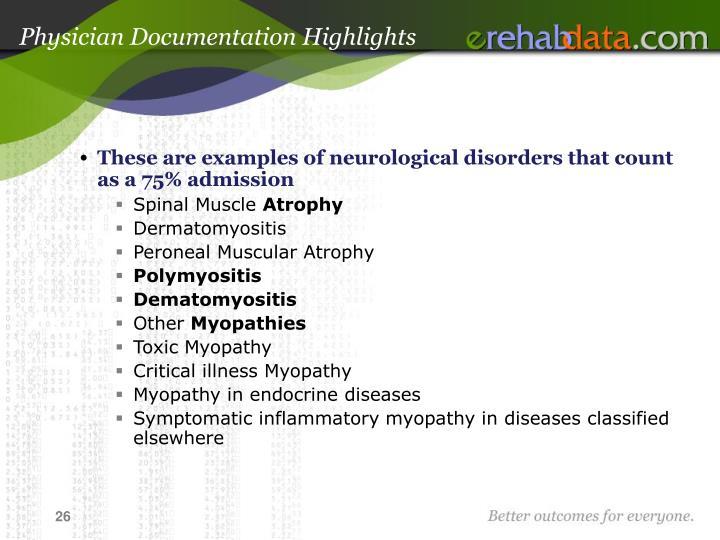 Physician Documentation Highlights