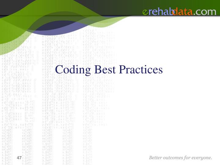 Coding Best Practices