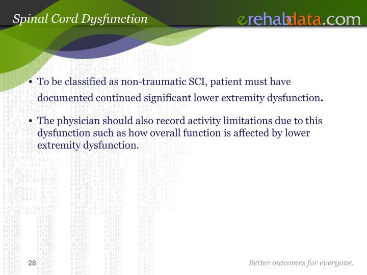 Spinal Cord Dysfunction