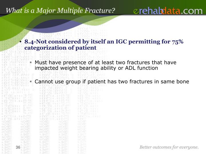 What is a Major Multiple Fracture?