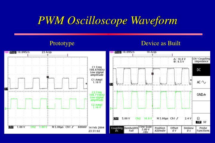 PWM Oscilloscope Waveform