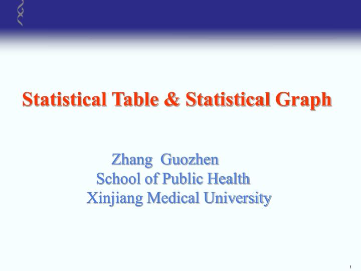Statistical Table & Statistical