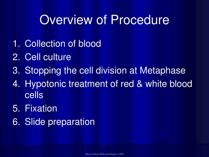 Overview of Procedure