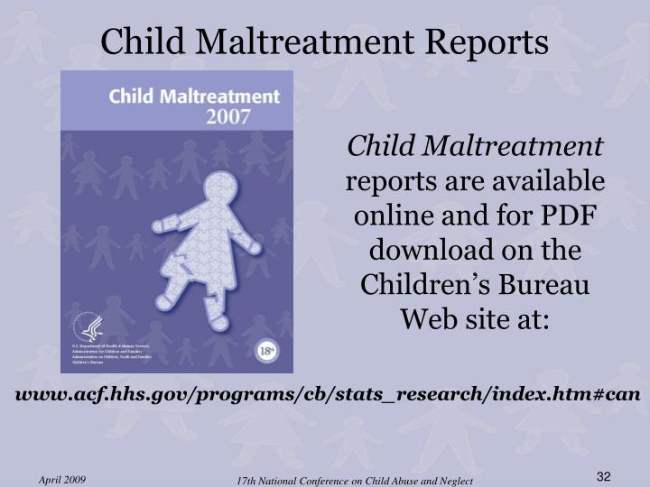 Child Maltreatment Reports
