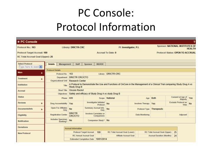 PC Console: