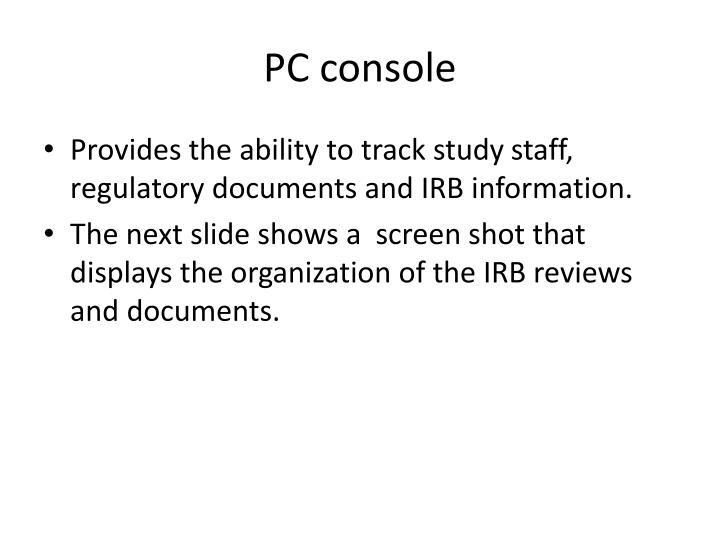 PC console