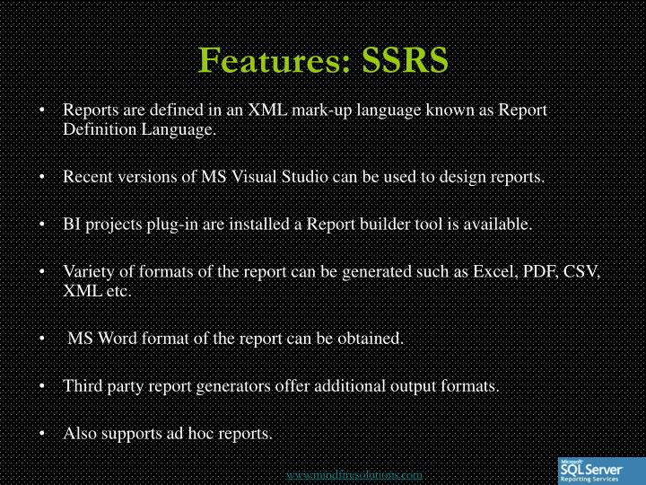 Features ssrs