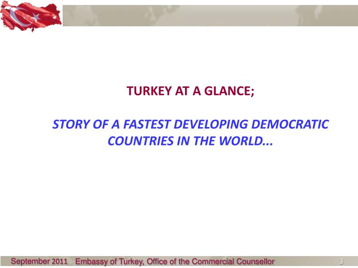 TURKEY AT A GLANCE;