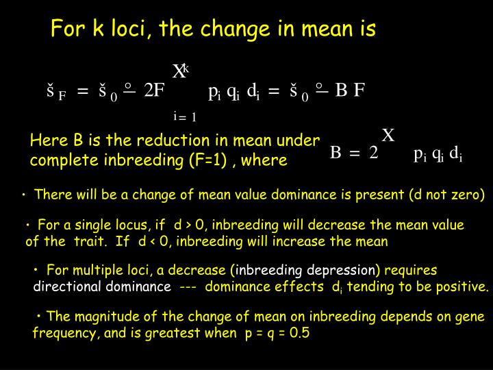 Here B is the reduction in mean under