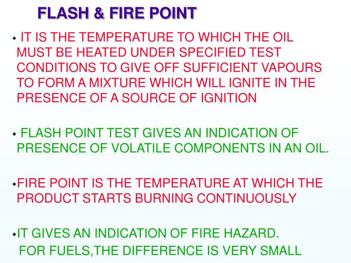 FLASH & FIRE POINT