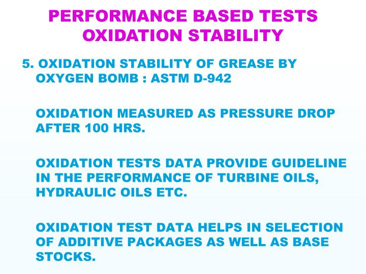 PERFORMANCE BASED TESTS