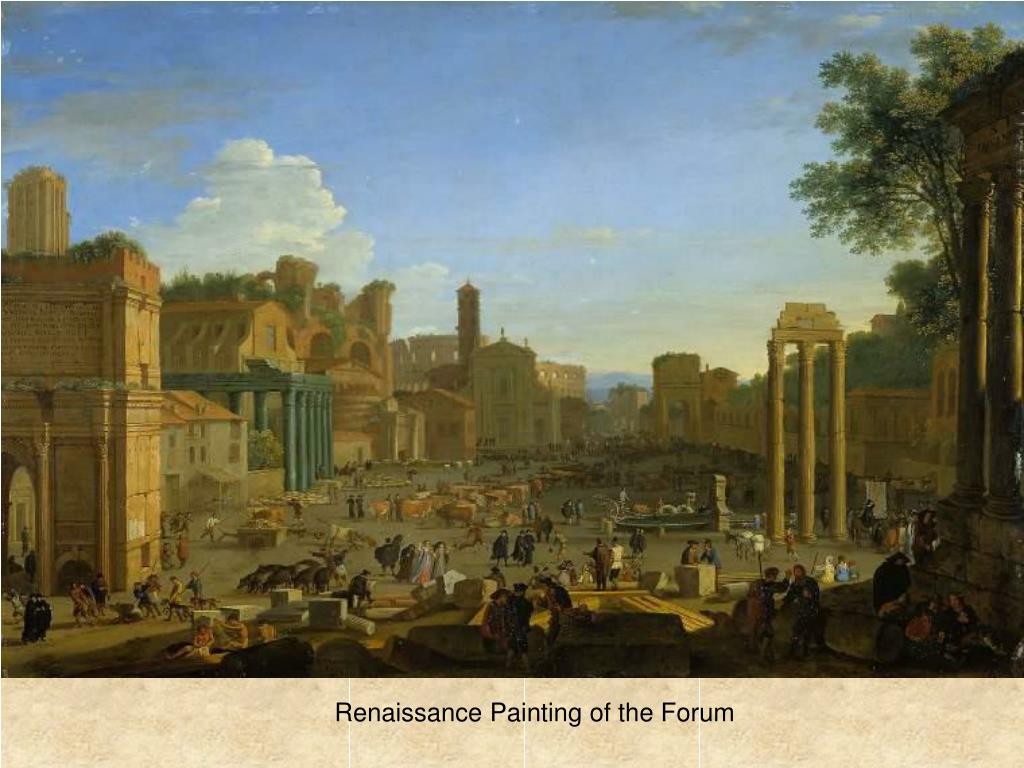 Renaissance Painting of the Forum