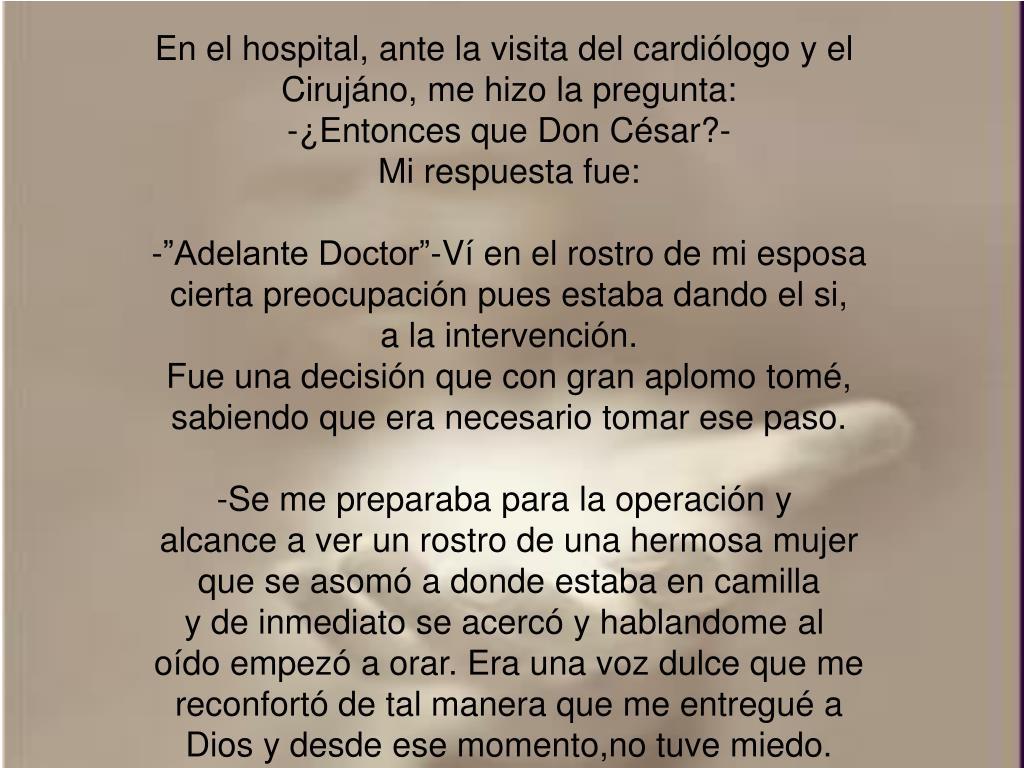 En el hospital, ante la visita del cardiólogo y el