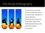 the study of geography3