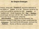 an empire emerges39