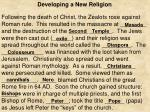 developing a new religion