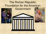 the roman republic foundation for the american government
