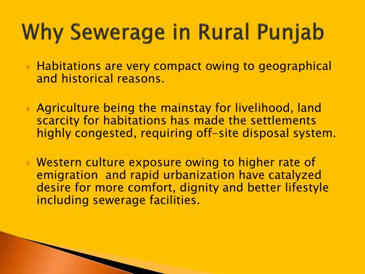 Why Sewerage in Rural Punjab