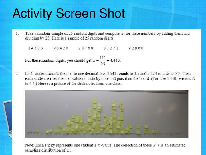 Activity Screen Shot