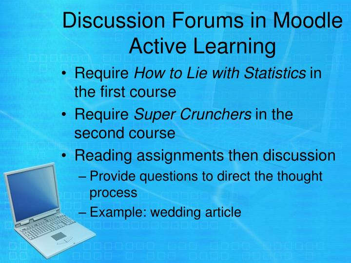 Discussion Forums in Moodle