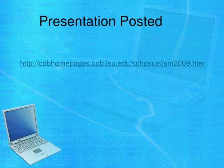 Presentation Posted