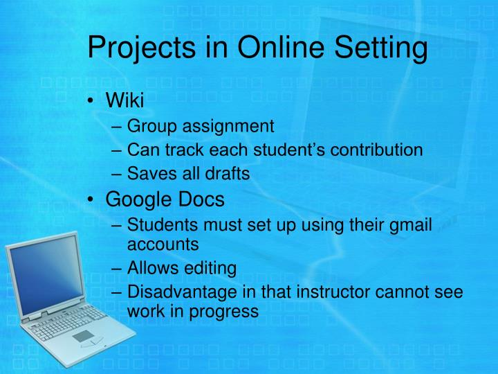 Projects in Online Setting
