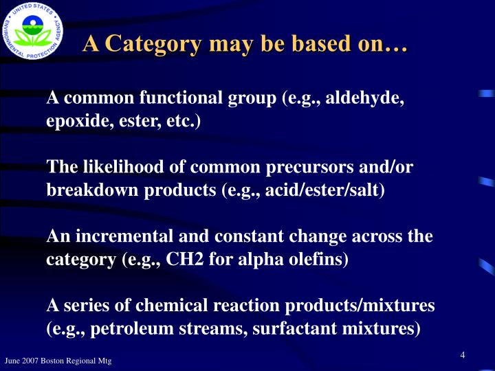 A Category may be based on…