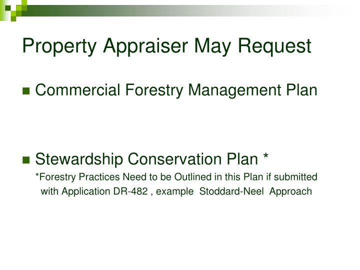 Property Appraiser May Request