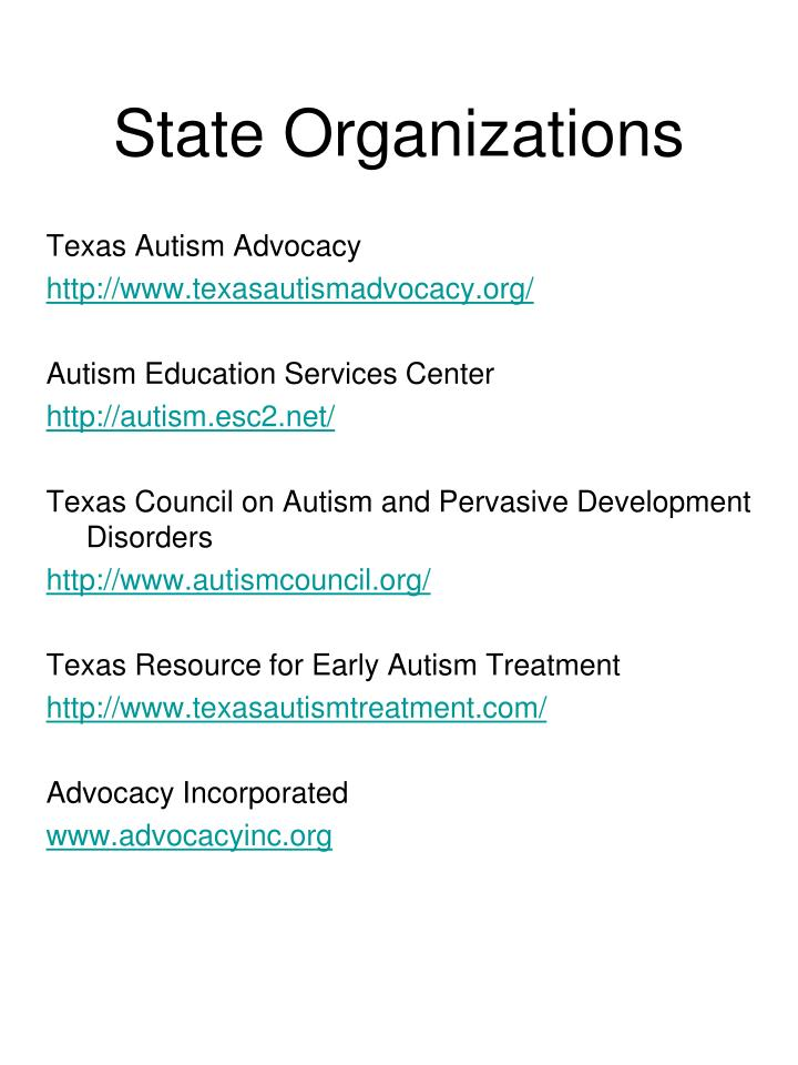 State Organizations