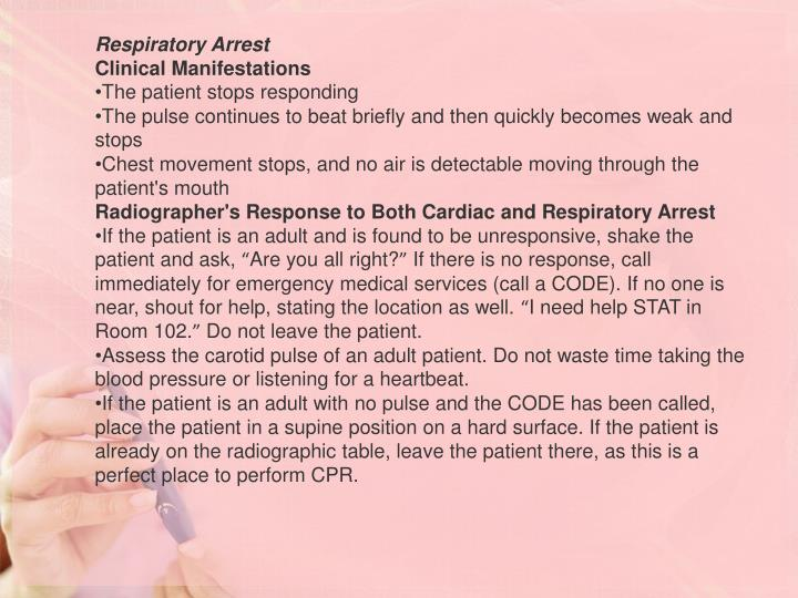 Respiratory Arrest