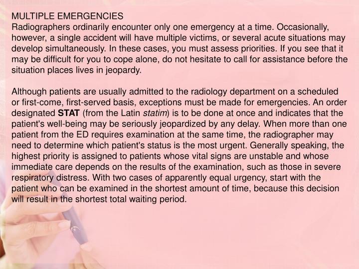 MULTIPLE EMERGENCIES