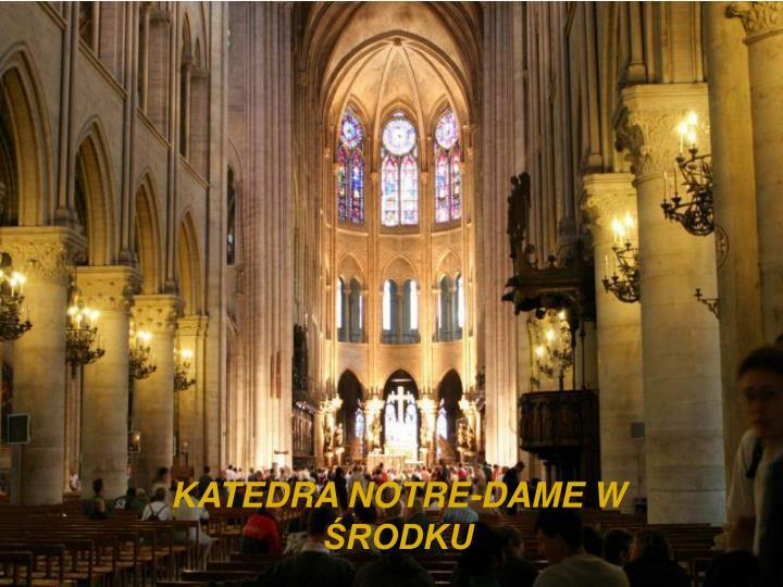 KATEDRA NOTRE-DAME W ŚRODKU