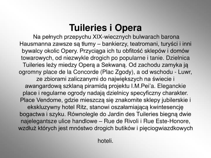 Tuileries i Opera