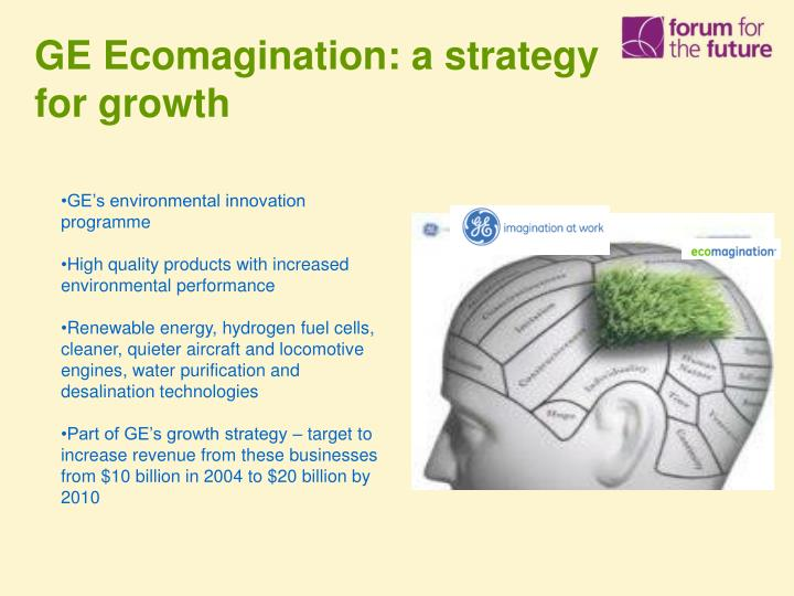 GE Ecomagination: a strategy for growth