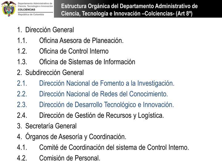 Estructura Orgánica del Departamento Administrativo de